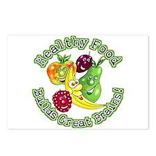Healthy Food Builds Great Brains! Postcards (Packa