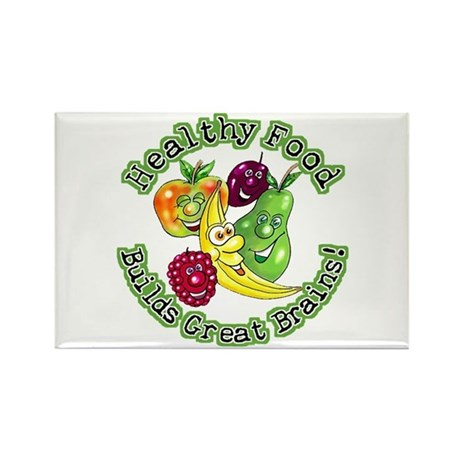 Healthy Food Builds Great Brains! Rectangle Magnet