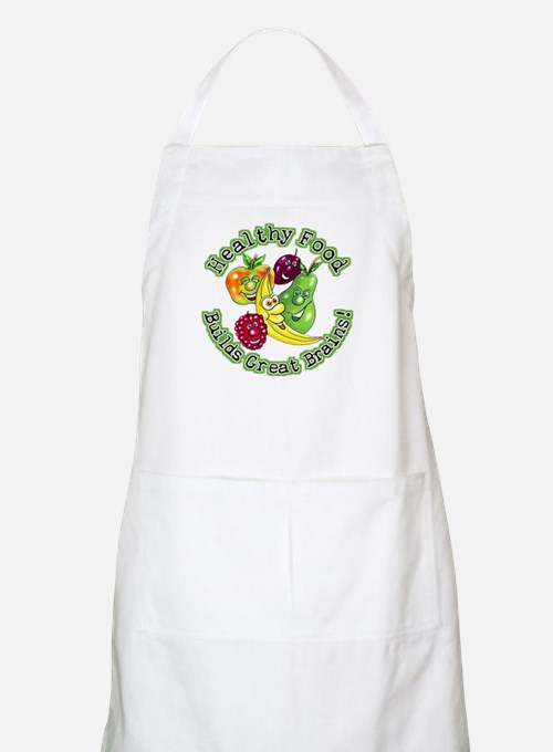 Healthy Food Builds Great Brains! BBQ Apron