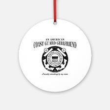 American Coastie Girlfriend Ornament (Round)