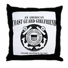 American Coastie Girlfriend Throw Pillow