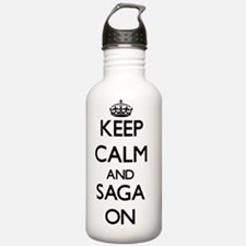 Keep Calm and Saga ON Water Bottle