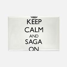 Keep Calm and Saga ON Magnets