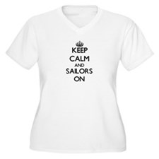 Keep Calm and Sailors ON Plus Size T-Shirt