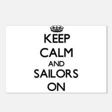Keep Calm and Sailors ON Postcards (Package of 8)