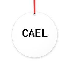 Cael Digital Name Design Ornament (Round)