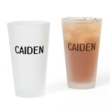 Caiden Digital Name Design Drinking Glass