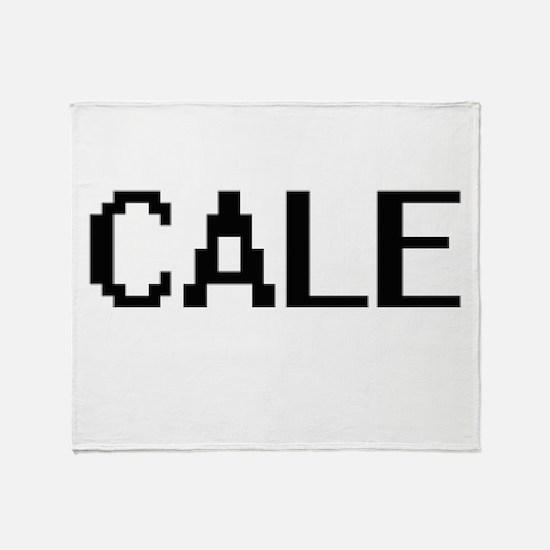 Cale Digital Name Design Throw Blanket