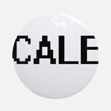 Cale Digital Name Design Ornament (Round)