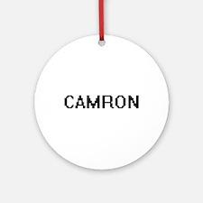 Camron Digital Name Design Ornament (Round)
