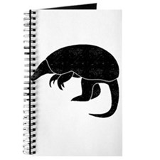 Distressed Armadillo Silhouette Journal