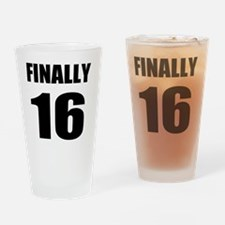 16th Birthday Humor Drinking Glass
