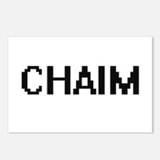 Chaim Digital Name Design Postcards (Package of 8)