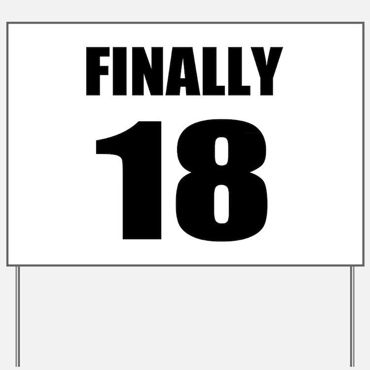 Happy 18Th Birthday Happy 18th Birthday Yard Signs
