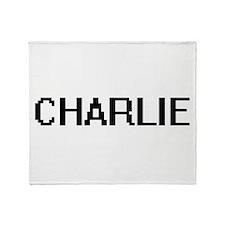 Charlie Digital Name Design Throw Blanket