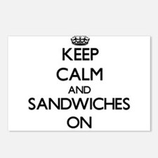 Keep Calm and Sandwiches Postcards (Package of 8)