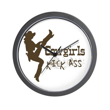 Kick Ass Cowgirl Wall Clock