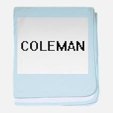 Coleman Digital Name Design baby blanket