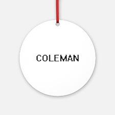 Coleman Digital Name Design Ornament (Round)