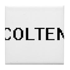 Colten Digital Name Design Tile Coaster