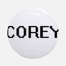 Corey Digital Name Design Ornament (Round)