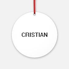 Cristian Digital Name Design Ornament (Round)