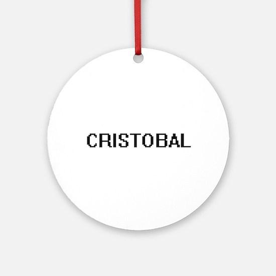 Cristobal Digital Name Design Ornament (Round)