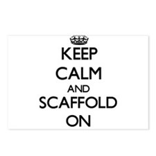 Keep Calm and Scaffold ON Postcards (Package of 8)