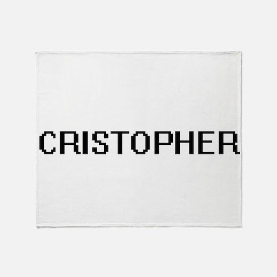 Cristopher Digital Name Design Throw Blanket