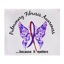 Pulmonary Fibrosis Butterfly 6.1 Throw Blanket