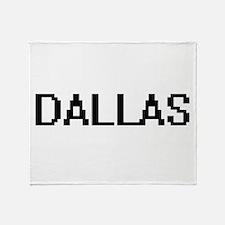Dallas Digital Name Design Throw Blanket