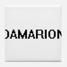 Damarion Digital Name Design Tile Coaster