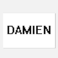 Damien Digital Name Desig Postcards (Package of 8)
