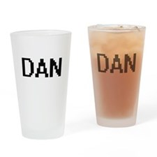 Dan Digital Name Design Drinking Glass