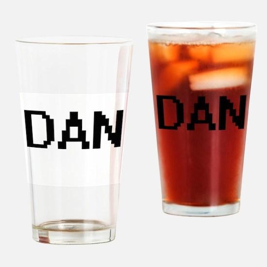 Dan Digital Name Design Drinking Glass