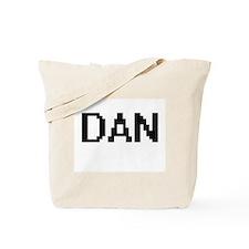 Dan Digital Name Design Tote Bag