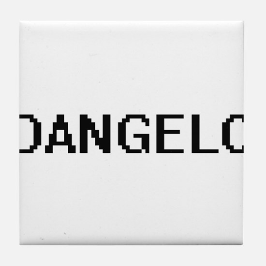 Dangelo Digital Name Design Tile Coaster