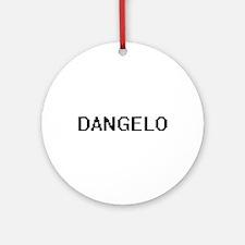 Dangelo Digital Name Design Ornament (Round)