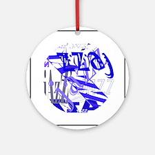 Jazz Blue Ornament (Round)