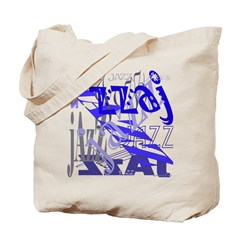 Jazz Blue Tote Bag
