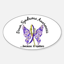 Down Syndrome Butterfly 6.1 Sticker (Oval)