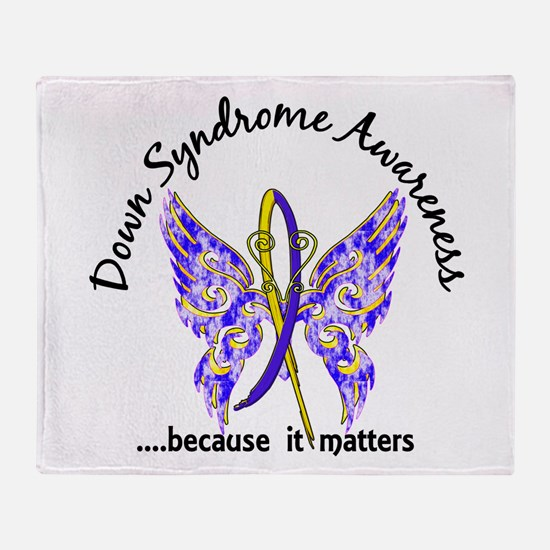 Down Syndrome Butterfly 6.1 Throw Blanket