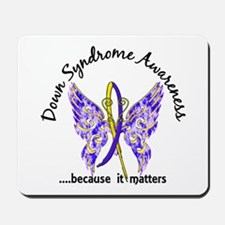 Down Syndrome Butterfly 6.1 Mousepad
