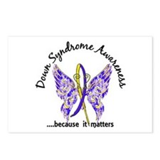 Down Syndrome Butterfly 6 Postcards (Package of 8)