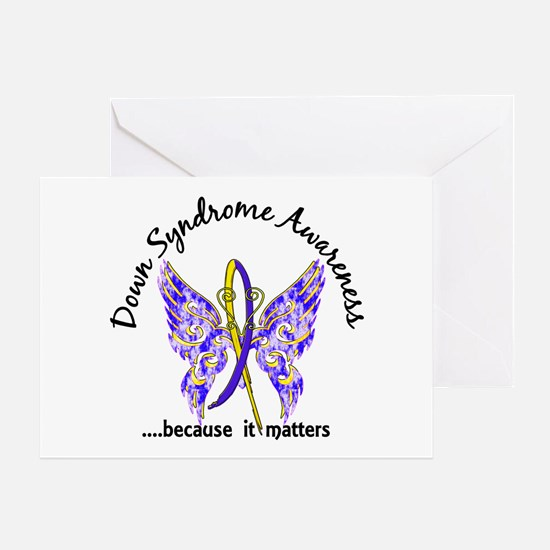 Down Syndrome Butterfly 6.1 Greeting Card