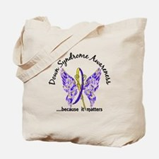 Down Syndrome Butterfly 6.1 Tote Bag