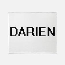 Darien Digital Name Design Throw Blanket