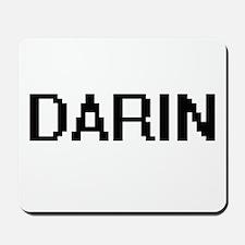 Darin Digital Name Design Mousepad