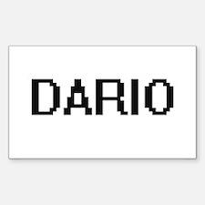 Dario Digital Name Design Decal
