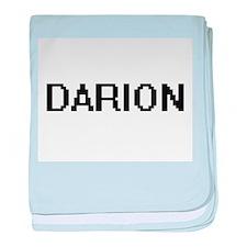 Darion Digital Name Design baby blanket